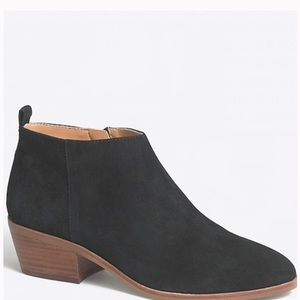 J. CREW SAWYER SUEDE ANKLE BOOTS